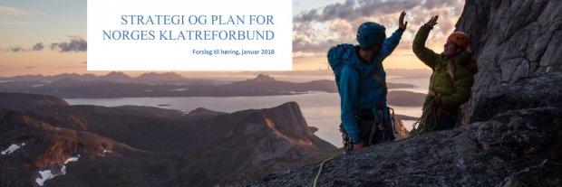 Utkast til ny strategi og overordnet plan for Norges klatreforbund