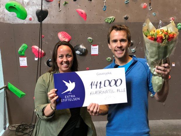 Fredrikstad klatreklubb får 141 000 kr i støtte til prosjektet Klatring for alle