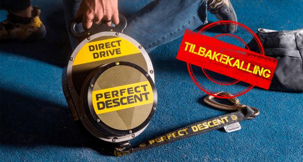 Viktig: Tilbakekalling på Perfect Descent autobelay