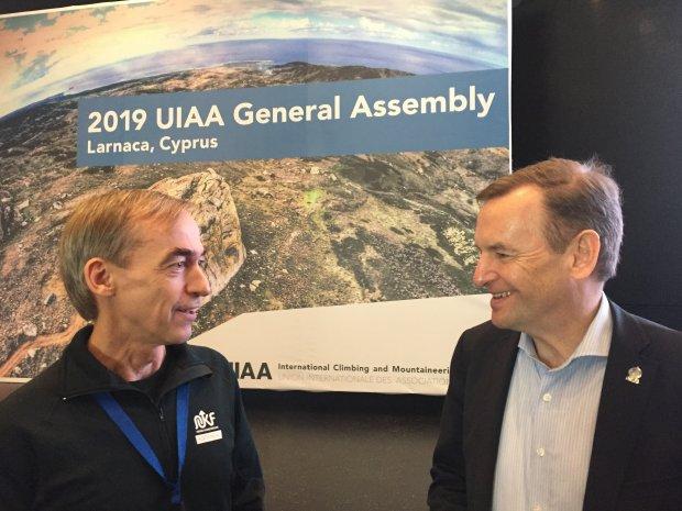 NKF var tilstede på helgens generalforsamlingen i UIAA på Kypros!