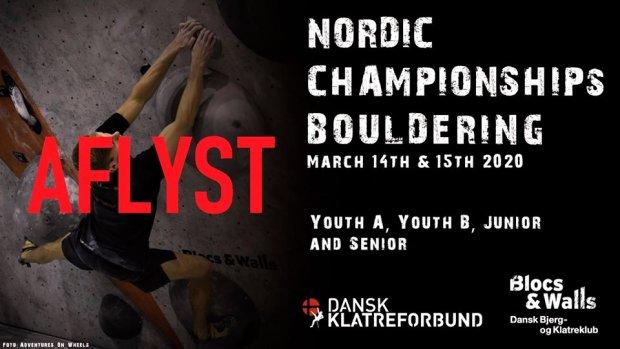 Nordisk mesterskap buldring AVLYST