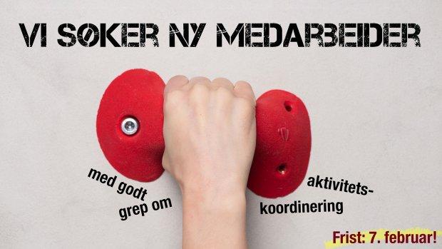 Norges klatreforbund søker aktivitetskoordinator